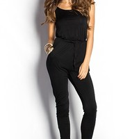 Riley Black Casual Slouchy Jumpsuit
