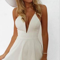 stitching dresses sexy white party dress VD1117FC