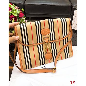 Burberry Fashion New Plaid Shoulder Bag Crossbody Bag Women