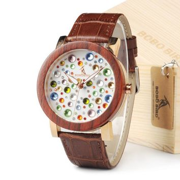 Women Top Brand Design Rhinestone Watches Austrian Crystal Ceramic Leather Band Women Dress Watches For Gift