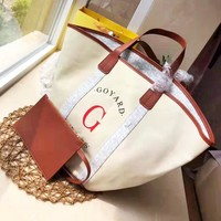 GOYARD fashion hot seller women's monogram canvas casual two-piece shopping shoulder bag