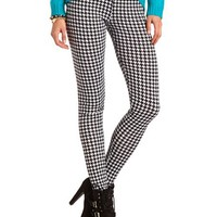 HOUNDSTOOTH PRINT KNIT LEGGING