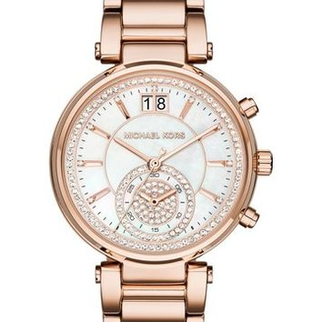 MICHAEL Michael Kors | Women's Sawyer Rose Gold-Tone Bracelet Watch | Nordstrom Rack