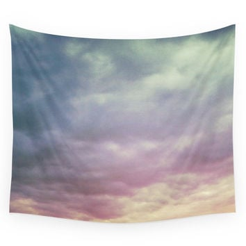 Society6 Pastel Clouds Wall Tapestry