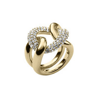 Michael Kors Curved Pave Ring, Golden