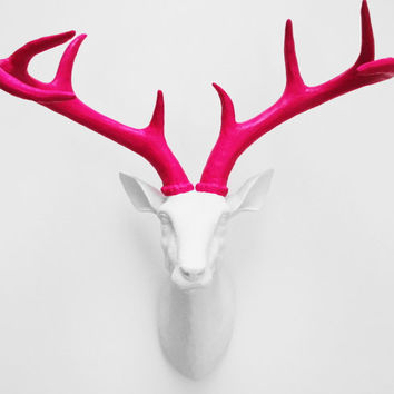 Stag Head, White Faux Deer Head, Faux Taxidermy, Deer, Faux Stag Head, Deer Head Australia, Hodi Home Decor, Animal Head, Faux Stag Head,