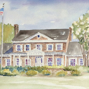Custom Home Painting ~ Watercolor ~ House Portrait ~ Illustration ~Perfect for Anniversary or Wedding
