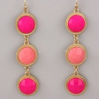NEW Paradise Stone Drop Earrings in Pink