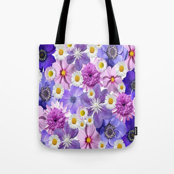 Floral Bouquet Tote Bag by kasseggs