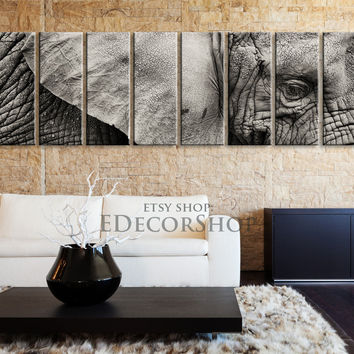 Large Wall Art Elephant Canvas Prints | African Elephant Canvas Print | Elephant Wall Art | Large Canvas Art | Wildlife Home Decor - MC30