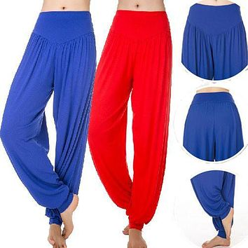 Hip Hop Belly Dance Loose Pants Women Plus Size Candy Color Modal Pants Calca Lantern Moletom Feminino Pantalone