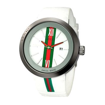 GUCCI Ladies Men Watch Little Ltaly Stylish Watch F-PS-XSDZBSH  white
