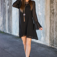 Stay Back Love Dress, Black