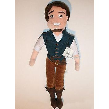 "Licensed cool NEW Disney Store Tangled Rapunzel 21""  FLYNN RIDER Plush Toy Stuffed Rag Doll"