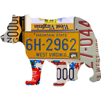 West Virginia License Plate Black Bear