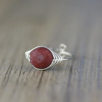 Sterling silver amazonlite stone ring  Free US Shipping handmade anni designs