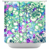 DiaNoche Designs Shower Curtains by Sylvia Cook Stylish, Decorative, Unique, Cool, Fun, Funky Bathroom - Razzle Dazzle