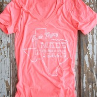 V-NECK PINK MADE IN TEXAS TEE - Junk GYpSy co.
