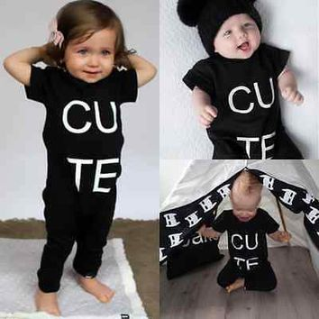 0-3Y Newborn Baby Clothes Cute Baby Girls Boys Summer Short Sleeve Cotton Romper Toddle Kids Clothing Playsuit