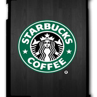 Starbucks Coffee Dark Wood iPad 2 3 4, iPad Mini 1 2 3 , iPad Air 1 2