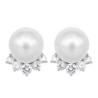 South Sea Pearl Diamond Earrings