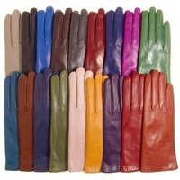 Amazon.com: Italian Cashmere Lined Leather Gloves Size 6 1/2 Color BRN By Fratelli Orsini Everyday (P2269W): Clothing