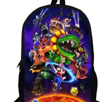 Super Mario party nes switch 16 Inch Anime Sonic  Backpack Students School Bags Boys Girls Daily Backpacks Children Bag Kids Best Gift Backpack AT_80_8