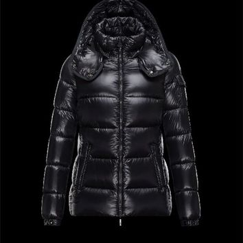 Moncler BERRE Turtleneck Black Jackets Polyamide Womens 41456953TW