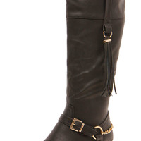Izzy Gold Insert Buckle & Chain Riding Boot