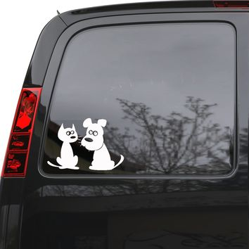 "Auto Car Sticker Decal Pet Cat Dog Animals Truck Laptop Window 7.5"" by 5"" Unique Gift 1709igc"