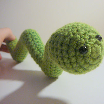 Amigurumi Wiggly Worm PDF Crochet Pattern INSTANT DOWNLOAD