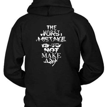 ICIK7H3 Zayn Quote The Worst Mistake Hoodie Two Sided