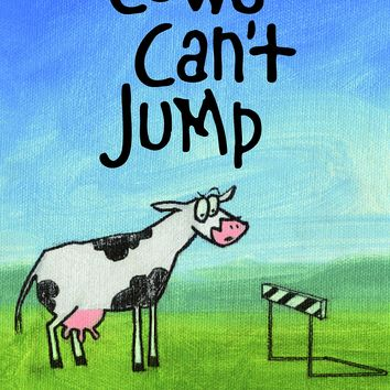 Cows Can't Jump: Animal Actions (Cows Can't Series) Board book – November 9, 2015