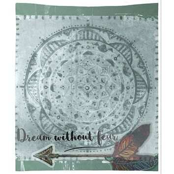 Green Dream Catcher Tapestry Wall Hanging Meditation Yoga Grunge Hippie