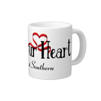 Red Ribbon•Bless Your Heart•Custom 20 Oz Large Ceramic Coffee Mug
