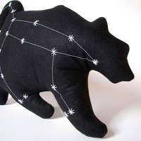 Ursa Major Constellation- The Great Bear in Black