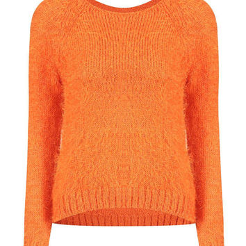 Fluffy Jumper in Orange