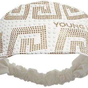 ONETOW Versace Girls Ivory Studded Headband