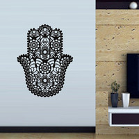 Hamsa Wall decal art decor decals sticker India amulet protection yoga Buddhism mantra (m202)