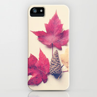 Red Maple Leaf Collection iPhone & iPod Case by Olivia Joy StClaire