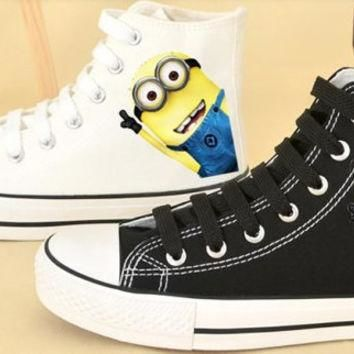 Despicable Me 2 Minion Custom Shoes Converse Despicable Me Minion Shoes Hand Painted S