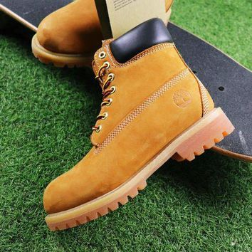 PEAPUX5 Timberland Wool Waterproof Soft Toe Boots Wheat/Black Color