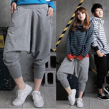 Women Men Harem Baggy Hip Hop Dance Sweat Pants Casual Trousers Slacks
