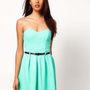 Paprika | Paprika Strapless Belted Dress at ASOS
