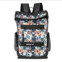 DOGS Prined Canvas Large ADIDAS Backpack College School Bag Travel Bag Daypack