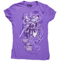 J!NX : World of Warcraft I fight Like a Girl Women's Tee
