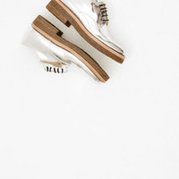 Totokaelo - Dries Van Noten Metallic Lace Up Derby - $755.00