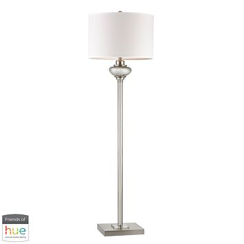 Edenbridge Antique Mercury Glass Floor Lamp with LED Nightlight - with Philips Hue LED Bulb/Bridge