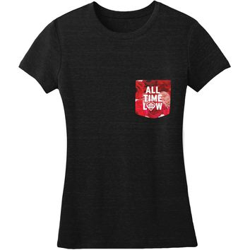 All Time Low  Pocket Flowers Junior Top Black