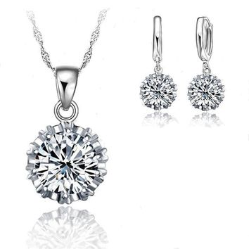 YAAMELI Trendy Women Low Price Jewelry Sets 100% 925 Stamped Sterling Silver Cubic Zirconia Necklace Pendant Earrings Big Sale